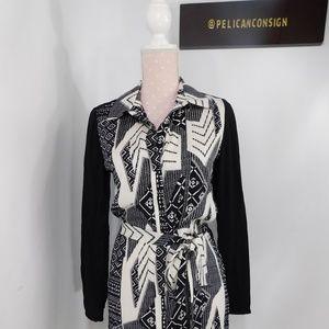 NWT Diane Von Furstenberg geometric tie waist dres